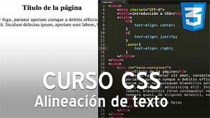 Curso CSS, manipulación de textos