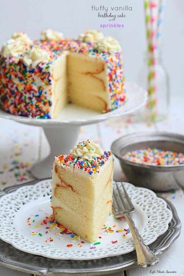 My Favorite Vanilla Birthday Cake With Bean Frosting Via LifeMadeSweeter