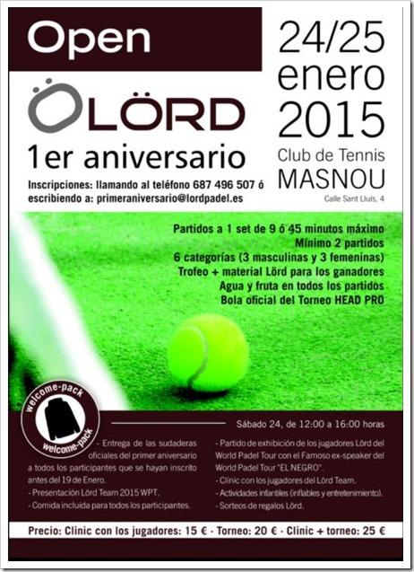 LÖRD Pádel presentará a su Lörd Padel Team 2015 el próximo 24 de enero en Barcelona.