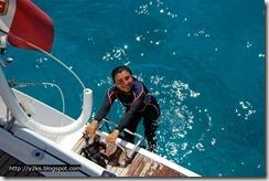 Di ritorno dalla sessione di snorkeling - Lampedusa