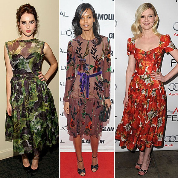 Celebrities-Wearing-Floral-Print-Dresses-Fall-2011