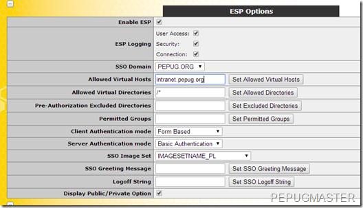 Konfiguracja ESP dla subinterface'u