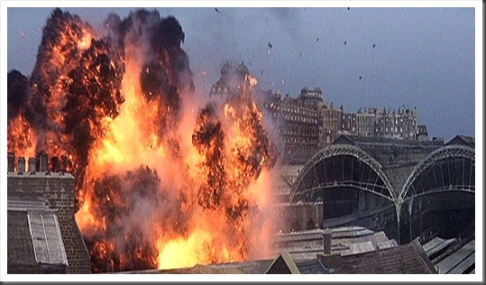 82. Victoria station is hit