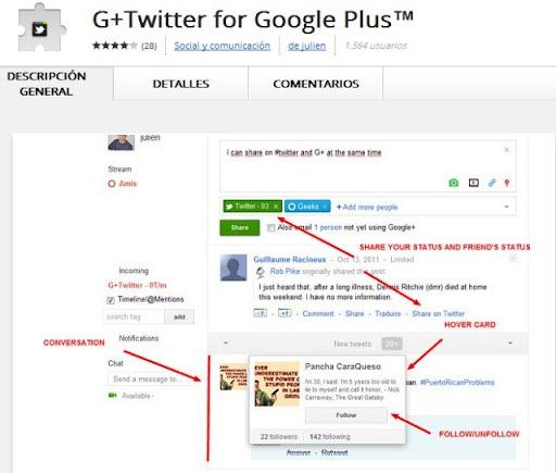G+Twitter for Google Plus