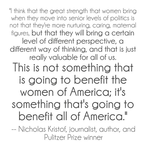 kristof quote - women in politics