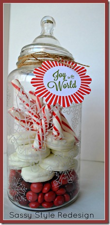 snowflake jar tutorial from Sassy Style Redesign
