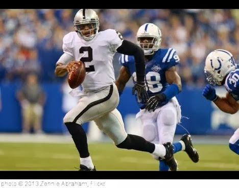 'Terrelle Pryor Of Oakland Raiders Shines In Debut v. Colts' photo (c) 2013, Zennie Abraham - license: http://creativecommons.org/licenses/by-nd/2.0/