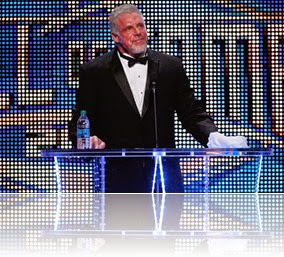 The Ultimate Warrior taking his rightful place at the Hall of Fame