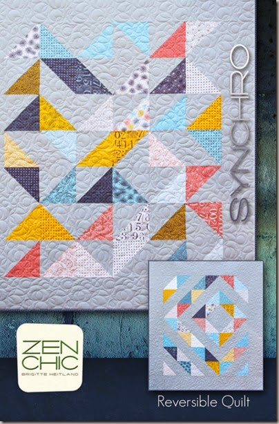 Synchro modern quilt pattern Zen Chic
