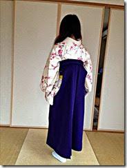 袴姿で百人一首大会へ (3)