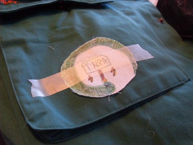 Et badge af ultratyndt stof