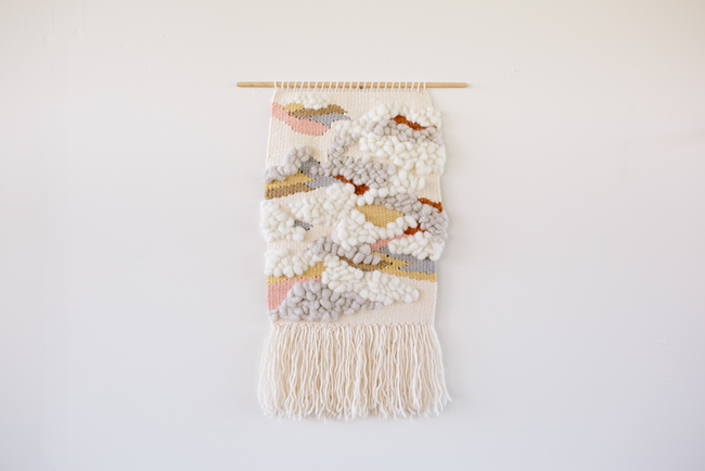 Montmorency in deep winter woven wall hanging by Alchemy