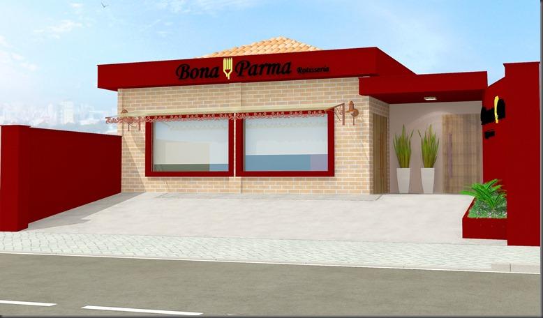 Fachada Frontal Bona Parma Rotisseria