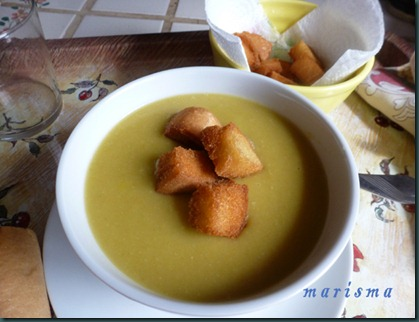 crema de judas verdes, racion copia