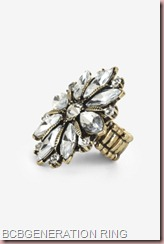BCBG GENERATION MULTI-STONE FLOWER RING