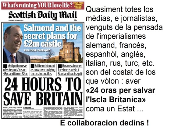 Yes Scotland Portada Scottish Daily Mail