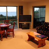 The Living Room at Steeples Cottage - Cape Foulwind, New Zealand
