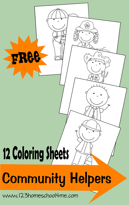 FREE Community Helper Coloring Pages - These free printable coloring sheets are great for a unit for preschool, kindergarten, 1st grade