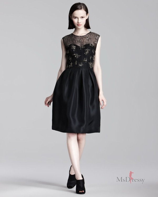 a-line-scoop-taffeta-knee-length-black-zipper-dressjpzipper174
