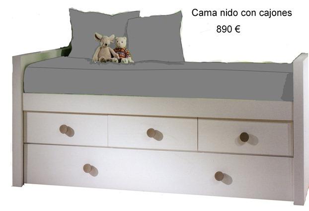 Camas con diversas formas y buen precio en madrid for Precio de cama nido con cajones