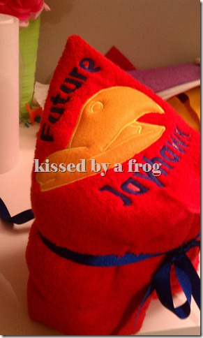 Kansas Jayhawks Hooded Towel By Kissed By a Frog