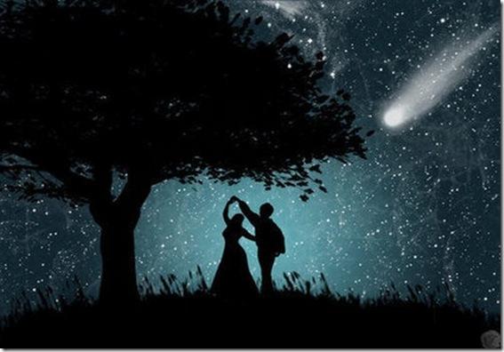 amor e estrela cadente