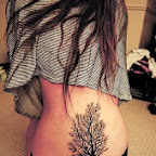 girl trees - Lower Back Tattoos Designs
