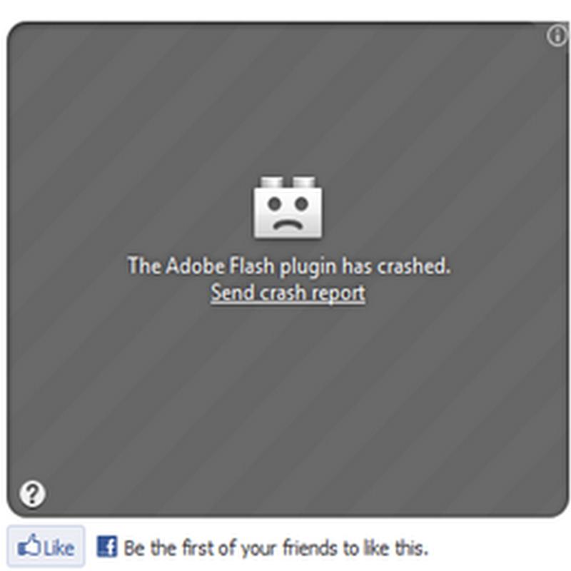 ปัญหาแจ้ง Adobe Flash plugin has crashed ใน Firefox