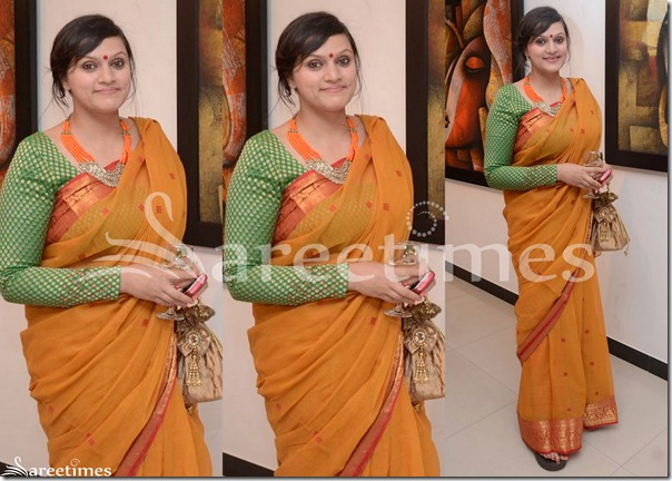 Mustard_Cotton_Saree