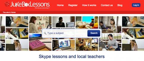 JukeboxLessons - encontrar clases online