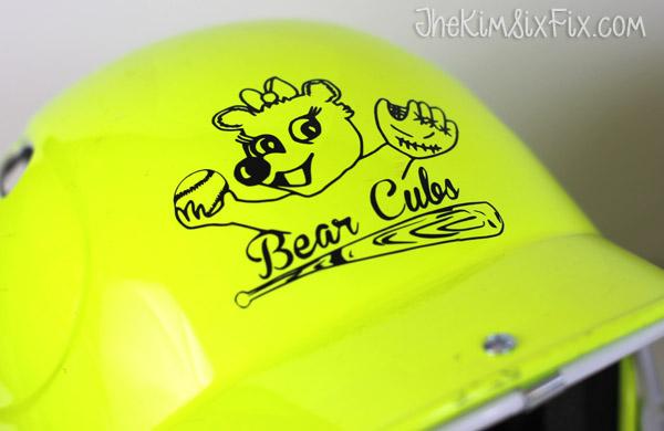 Bear cub softball helmet