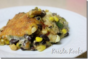 Krista Kooks Gluten Free Tortilla and Black Bean Pie 3