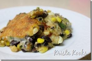 Krista Kooks Gluten Free Tortilla and Black Bean Pie 3