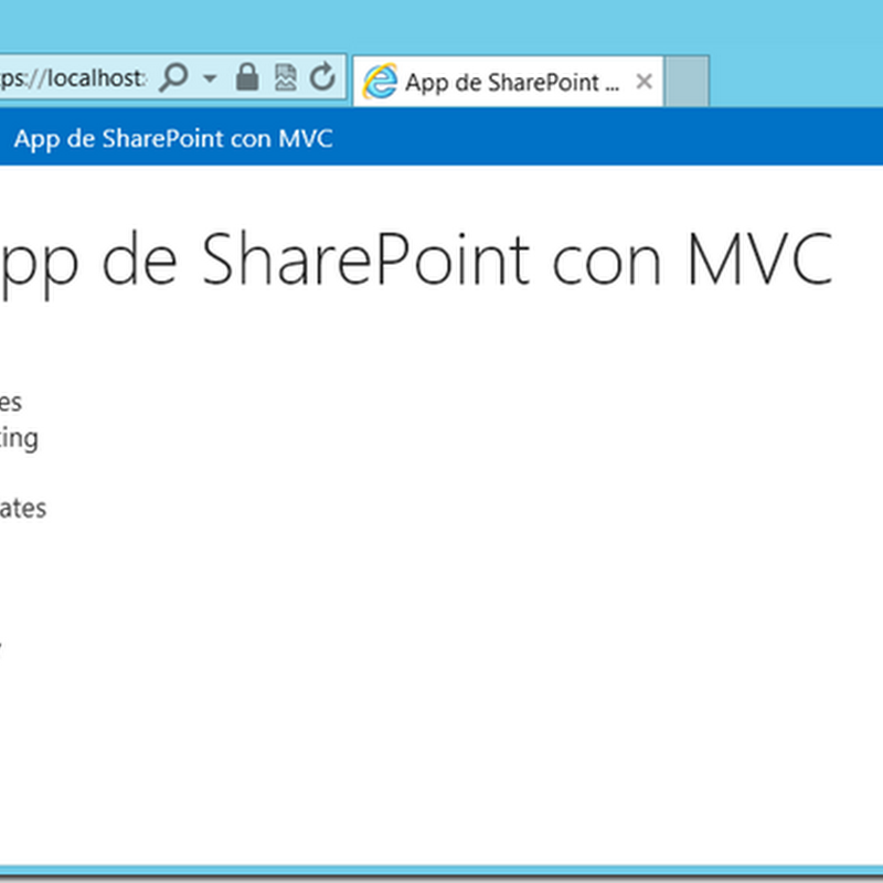 Las apps de SharePoint 2013 (V): Una app provider-hosted en Azure