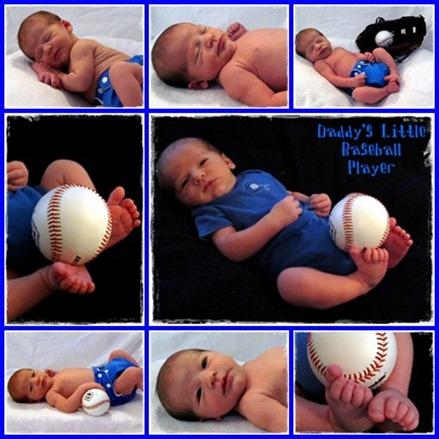 Nolan Baseball Collage Blue Border