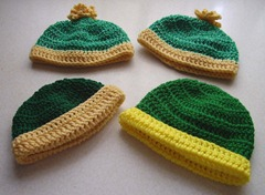 Green gold hats