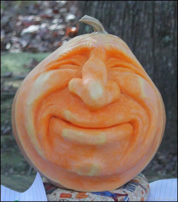 carved pumpkin head 3