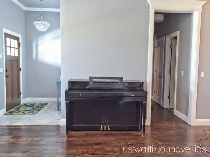 Just Wait til You have Kids | Piano Gallery Wall-Before