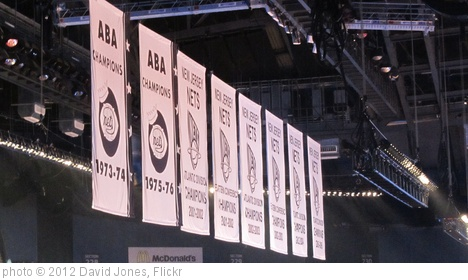 'Brooklyn Nets banners at the Barclays Center, Brooklyn' photo (c) 2012, David Jones - license: http://creativecommons.org/licenses/by/2.0/