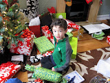 Eidan on Christmas morning