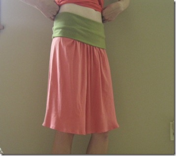 updated yoga skirt with freezer paper stenciled birds (7)