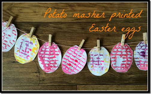 Potato Masher Easter Eggs from Treading on Lego