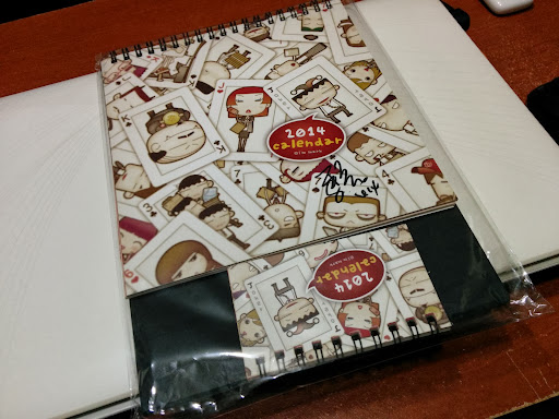 馬克2014年桌曆親筆簽名版