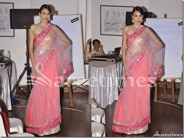 Pink_Embroidery_Net_Saree