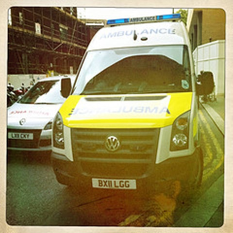 May- an emergency vehicle