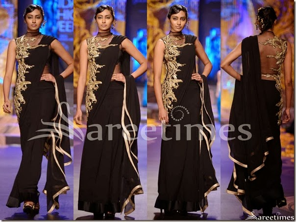 Gaurav_Gupta_Black_Saree