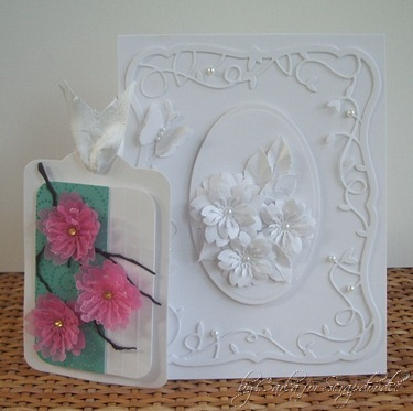 White on White Card, Cherry Blossom Tag, Memory Box Dies, Flower Punches, Scrapadoodle, Carla's Scraps (4)