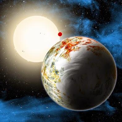ilustração do sistema Kepler-10