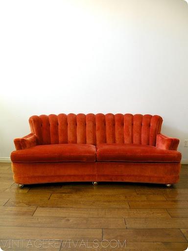 Perfect Retro Velvet Couch