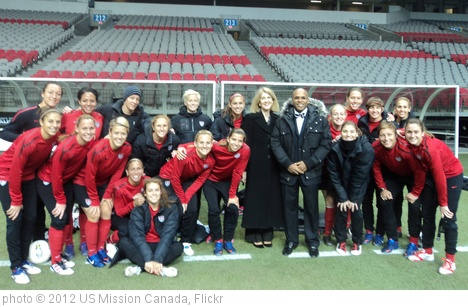 'U.S. Women's Soccer team in Vancouver' photo (c) 2012, US Mission Canada - license: http://creativecommons.org/licenses/by/2.0/